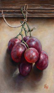 Trosje rode druiven