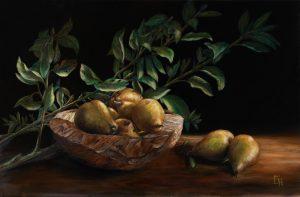 Schaal met peren